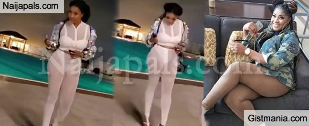 Actress Angela Okorie Slammed For Wearing This Very Transparent Outfit in Public (Video)