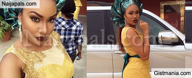 Flavor's Babymama, Anna Ebere Cuts An Angelic Look In Traditional Attire (Photos)