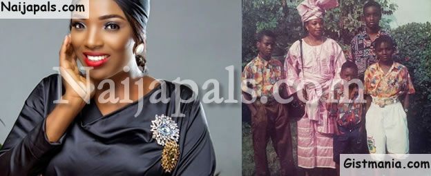 PHOTO: Tuface's Wife Annie Idibia Shares Her Emotional Childhood Family Picture