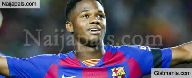Meet Ansu Fati, The 16 Years Old That Has Dethroned Messi At Barcelona