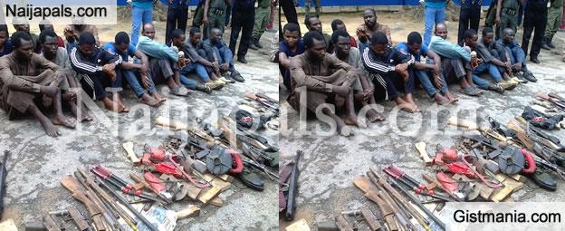 PHOTOS: Police Parade 20 Robbery Suspects In Kaduna