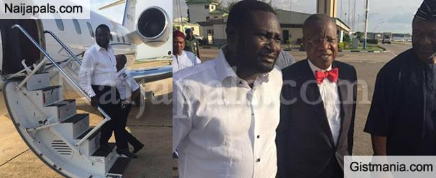 Warri Billionaire Ayiri Emami Flies A Private Jet To Meet With Bola Tinubu & Lai Mohammed (Photos)