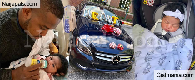 Nigerian Billionaire Based in US Gifts His New Born Baby Girl A Brand New C300 Benz (Video+Photos)