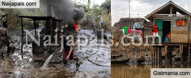 SMH! Photos of The Depleted State of Villages and Creeks in The Niger Delta Area