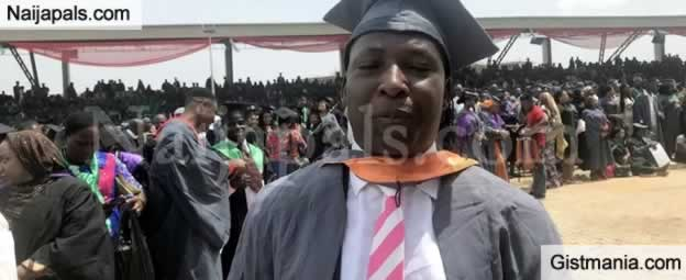 Meet 45 Years Old Best Graduating Student From NOUN,  Bala Magaji With 2 Wives and 7 Children