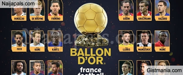 Messi Missing From List As First Set of Nominees For Ballon d'Or is Released (See Full List)