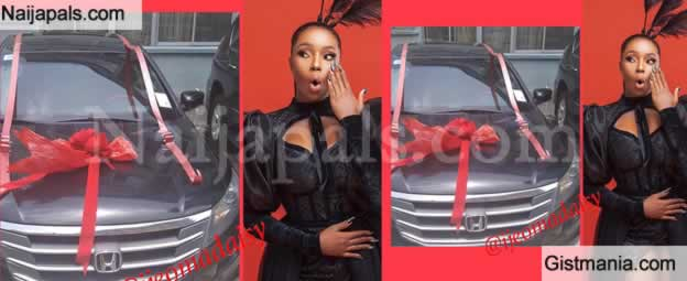 Fans Of BBNaija Housemate, Bam Bam Got Her A Car As Birthday Gift