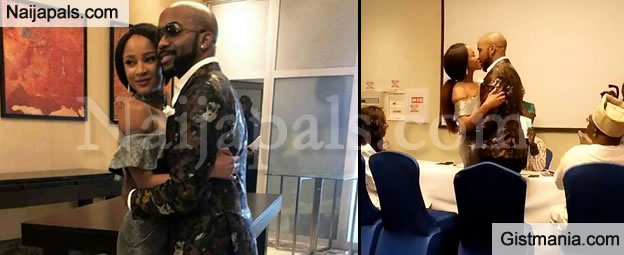 Exclusive Photos As Banky W and Adesua Etomi Officially Sign Marriage Papers At Registry Today