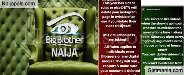 Multichoice Sets Stringent Rules In Relation To This Year's Big Brother Naija