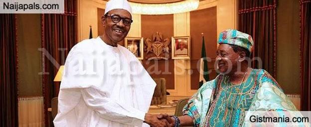 President Buhari Hosts Alaafin Of Oyo, Oba Adeyemi At The Statehouse - Photos