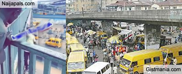 The Shocking Moment a Suicidal Man Tried Jumping Down From Berger Bridge In Lagos (VID)