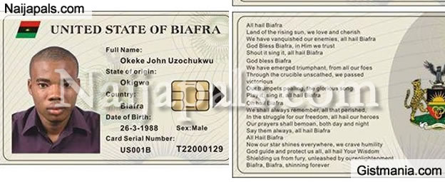 Secession: Biafra National ID Card In Circulation (See Photos)