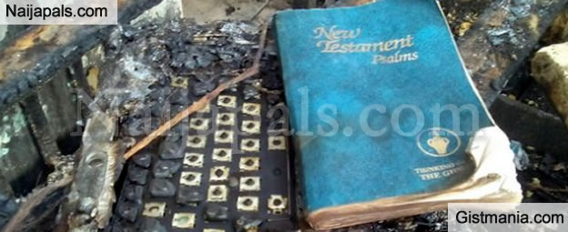 MIRACLE! Entire Orphanage Burnt Down By Fire But 3 Bibles Survive The Inferno (Photos)