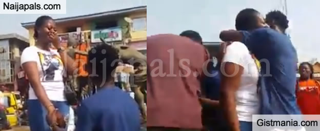 See How Anambra 'Big Boy' Causes Heavy Traffic In The Busy Street Of Eke Awka To Propose To His Gf