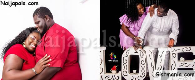 Amazing Pre-wedding Photos Of Plus Size Nigerian Couple Goes Viral