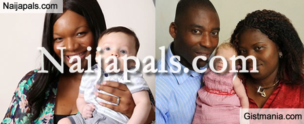 Shock as Black Nigerian woman gives birth to white baby (Photos)