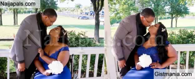 Nigerian Blogger, Lizzy Shares Romantic Photos With Husband While On Wheel Chair