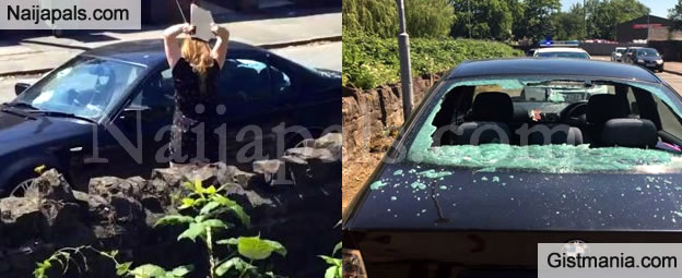 Heartbroken Woman Destroys Her Boyfriends BMW For Dumping Her (Video/Photos)