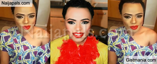 African Male Barbie,Bobrisky Shows Off His New Makeup and Female Clothing In London