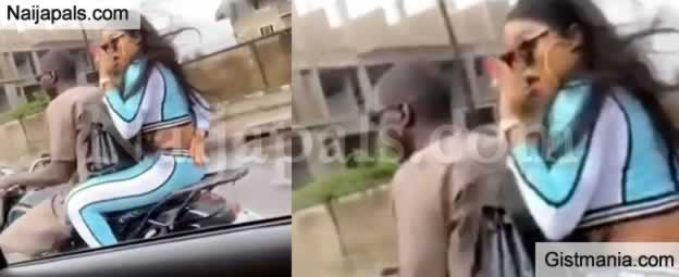 "VIDEO: Bobrisky Spotted On a Motorbike ""Okada"" Despite Claiming To Own N50M Benz"