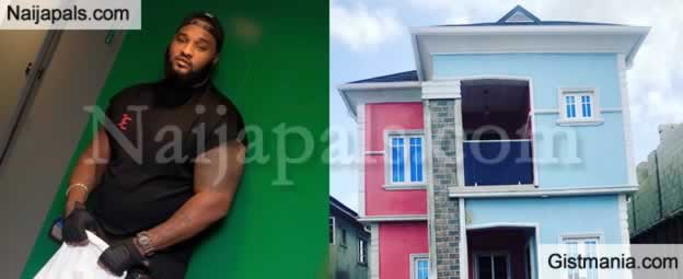 Photo: Musician, Wizkid's Bodyguard, Roy Emmanuel Obinna Becomes House Owner In Lagos