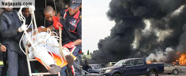 BREAKING! Boko haram Bombs NNPC Mega Station In Kano [Photos]