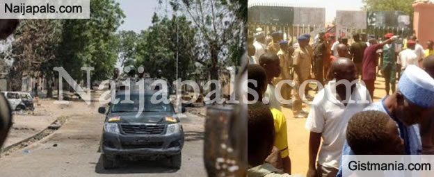 Horrific Photos From The Bomb Blast in Kaduna Today (Viewer is Advised)