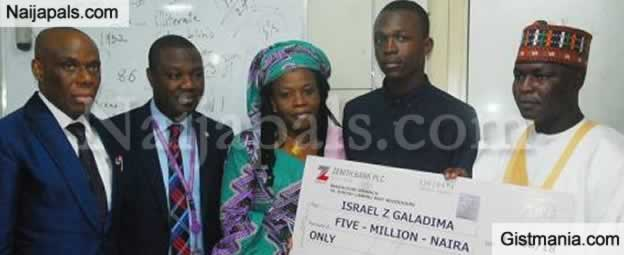Student Who Aced WAEC And Scored 364 In JAMB Presented With N5Million Cash Reward In Borno (Photos)