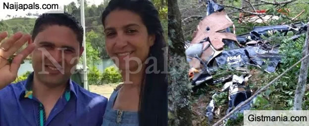 Sad! Bride, her Brother and One Other Die in Helicopter Crash on the Way to her Wedding