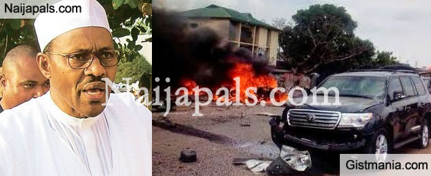 Second Bomb Blast Targeted At General Buhari Goes Off In Kawo, Kaduna - 90 Confirmed Dead - 24 Hrs Curfew Imposed