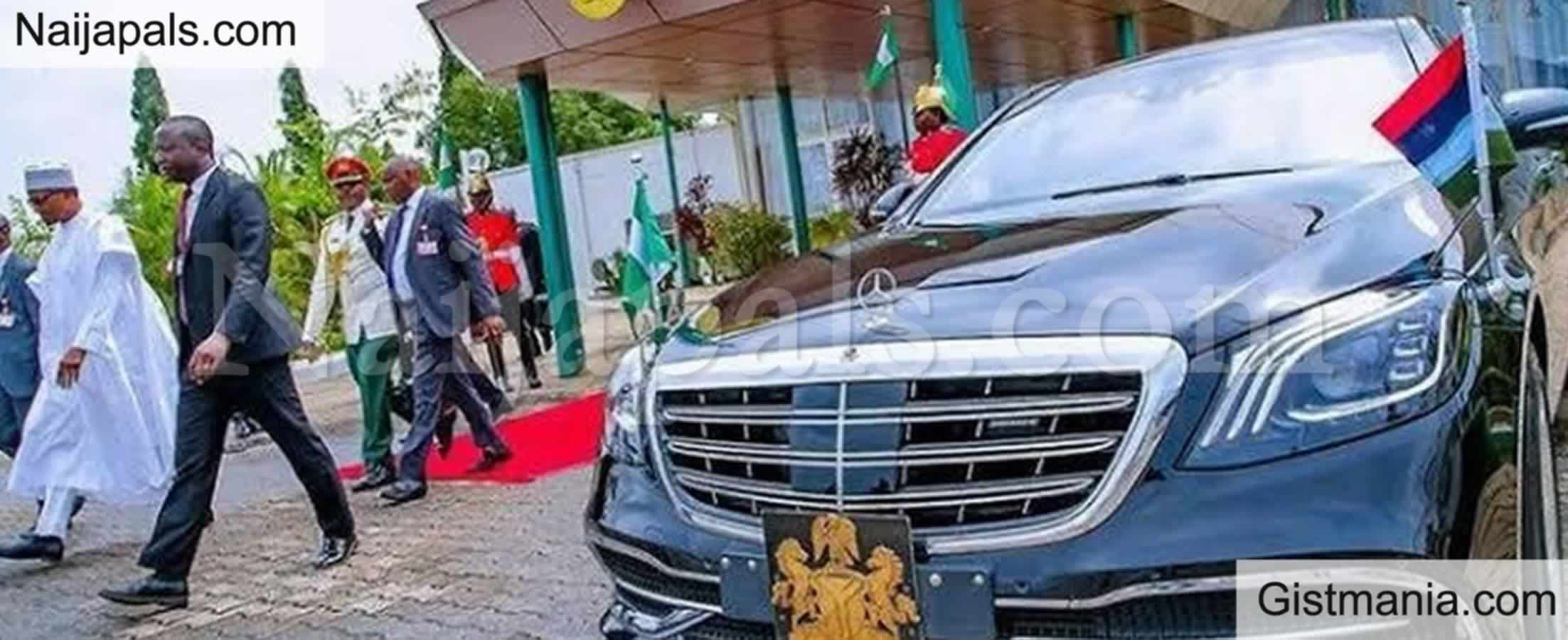 Mob Attack President Buhari's Car While Stuck In Traffic On His Way To Aso Rock (Video)