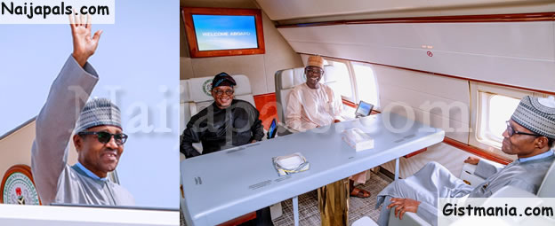 President Buhari Departs Abuja For New York Ahead Of 74th Session Of UN General Assembly (Photos)