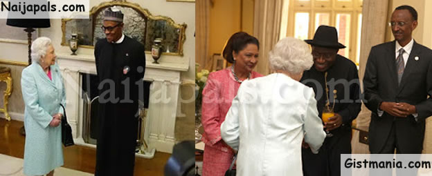 BUHARI OR JONATHAN? With Queen Elizabeth, Who Looks More Confident As A Leader At CHOGM (Photos)