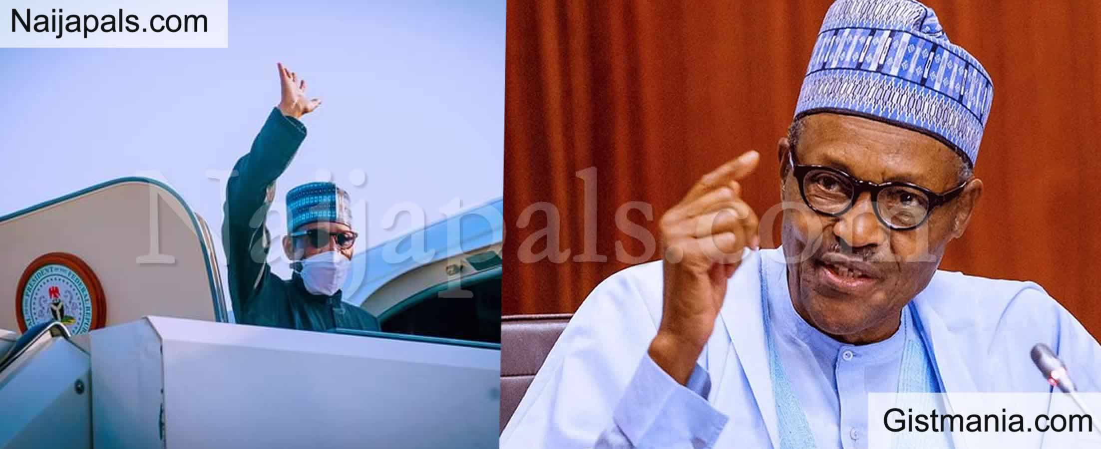 Photo Of A Very Casual Muhammadu Buhari On British Airways On His Way Back To Nigeria