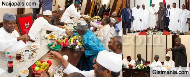 President Buhari Hosts Senators In A Banquet Dinner - Photos