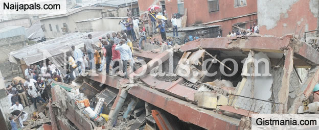 Building Collapses After Explosion In Ikoyi, Lagos&#059; Many Trapped [Photo]