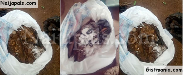 Lady Reveals The Shocking Thing That Was Buried At The Door Of Her House (Photos)