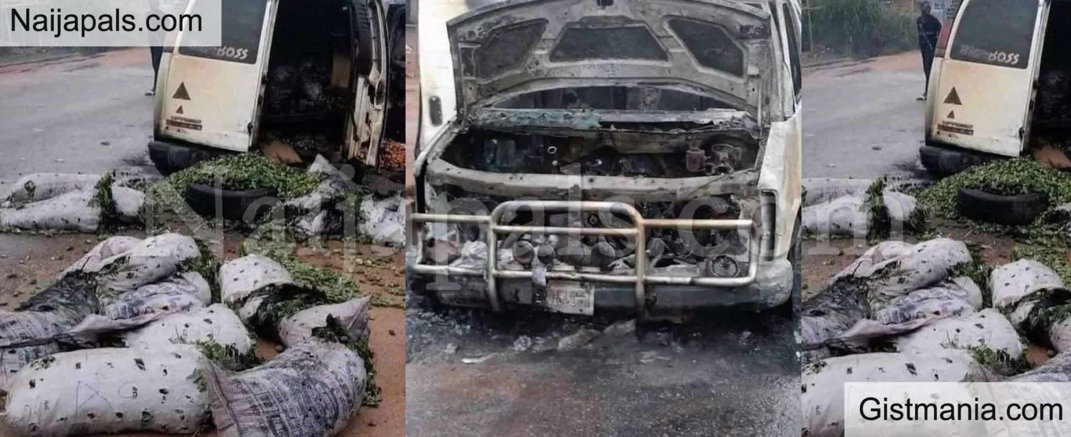 Horror! 5 People Dead, 10 Injured As Bus Catches Fire On Lagos-Ibadan Expressway