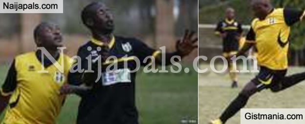 Check Out Photos Of Burundi President, Nkurunziza Playing Football, Amid Protests