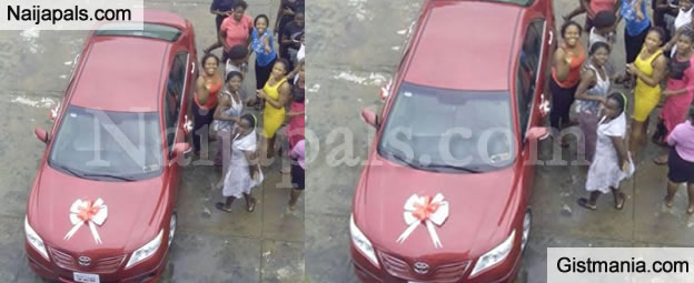 WOW! See The Car A UNILAG Babe Got As A Gift From Her Boo Just For Saying 'YES' - Photo