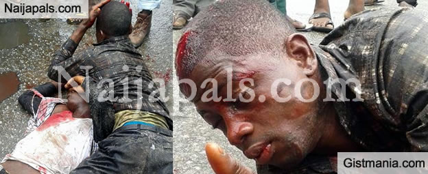 Car Thieves Battered After Failed Attempt To Steal Vehicle In Port Harcourt [Graphic Photos]