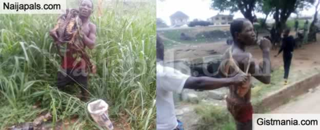 Car Wash Attendant Nabbed With Human Skeleton In Ibadan (Photo)