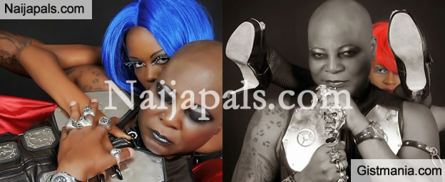 Photos: Charly Boy shares more fierce photos with his 'virgins'