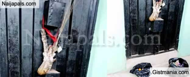 Wife Dumps Charm In Front Of Shop Of Lady Who Snatched Her Abroad Husband In Delta