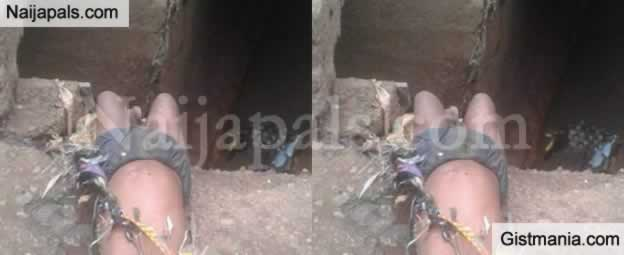 SMH! Unidentified Child Found Dead Along The Road After Heavy Rainfall In Onitsha (Photo)