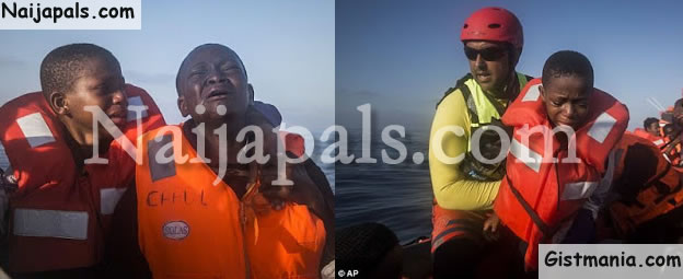 Nigerian Children Cry Uncontrollably After Losing Their Mother On Their Way To Europe