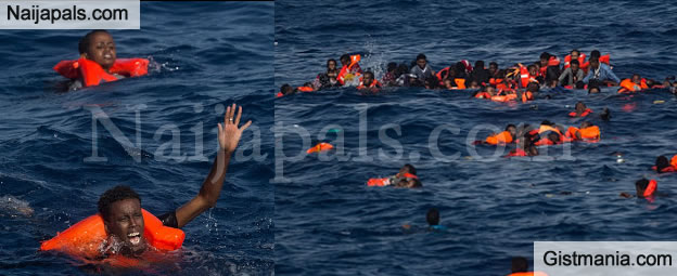 OMG! Over 30 Migrants Including Children Drown Off The Coast In Libya After Crossing The Sea -PICS