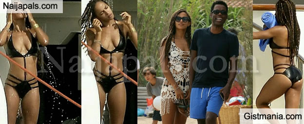 Chris Rock's Stunning Girlfriend Megalyn Echikunwoke Flaunts Her Sexy Body While On Vacay (Phottos)