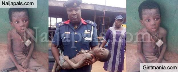 Civil Defence Rescue Highly Malnourished Boy Chained In A C&S Church In Ogun (Photos)