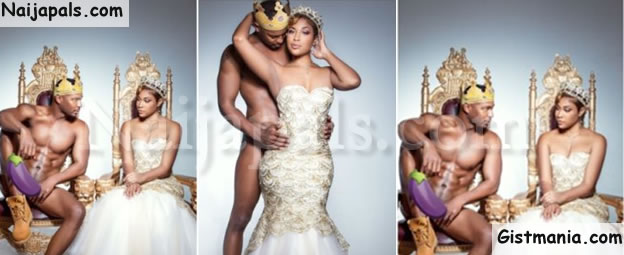 Man Strips Completely Unclad For Pre-wedding Shoot With His Girlfriend (Photos)